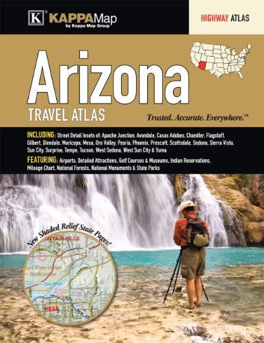 us topo - Arizona State Travel Atlas - Wide World Maps & MORE! - Book - Wide World Maps & MORE! - Wide World Maps & MORE!