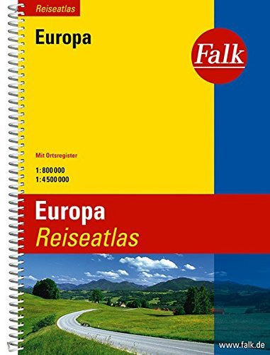 us topo - Falk Reiseatlas Europa 1 : 800 000 / 1: 4 500 000: Mit Ortsregister - Wide World Maps & MORE! - Book - Brand: - Wide World Maps & MORE!