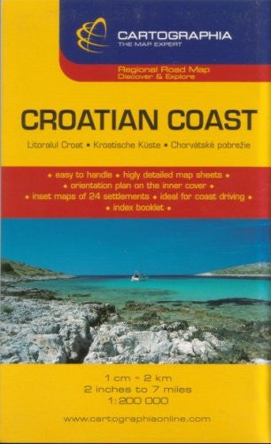 us topo - Croatian Coast Road Map by Cartographia (German, Italian and English Edition) - Wide World Maps & MORE! - Book - Wide World Maps & MORE! - Wide World Maps & MORE!