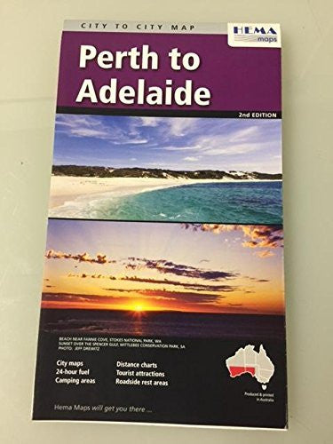 Perth to Adelaide City to City Map