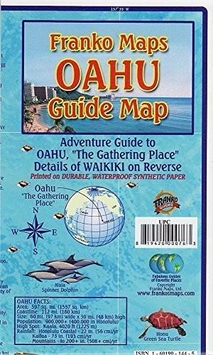 Oahu Hawaii Adventure Guide Franko Maps Waterproof Map by Franko Maps Ltd. (2013-05-01)