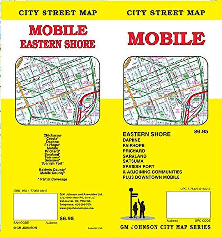 Mobile, Alabama Street Map