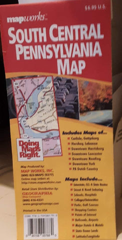 South Central Pennsylvania: Featuring Maps of Carlisle, Gettysburg, Hershey, Lebanon ... Pa Dutch Country, Maps Include ... State Game Lands