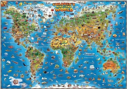 us topo - Dino's Illustrated World and USA Map Set - Wide World Maps & MORE! - Toy - Dino's Illustrated Maps - Wide World Maps & MORE!