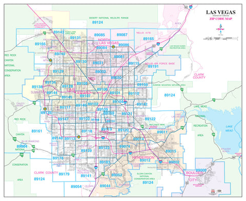 us topo - Las Vegas Arterial & Collector ZIP Code Wall Map Dry Erase Laminated - Wide World Maps & MORE! - Map - Wide World Maps & MORE! - Wide World Maps & MORE!