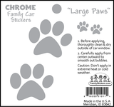 Large Paws - Chrome