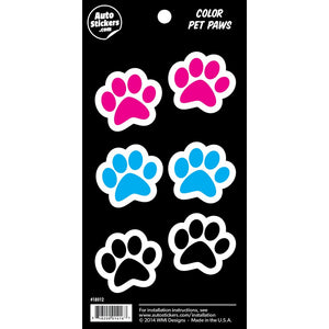 "Color Paws Stickers - 4"" x 8"""