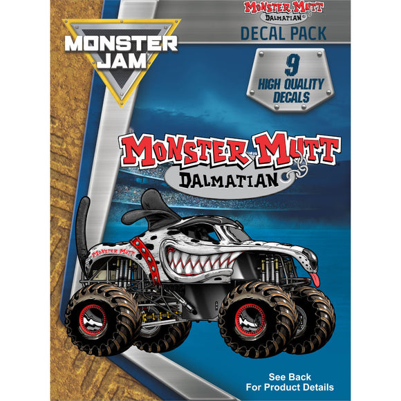Monster Jam Monster Mutt Dalmatian Decal Pack