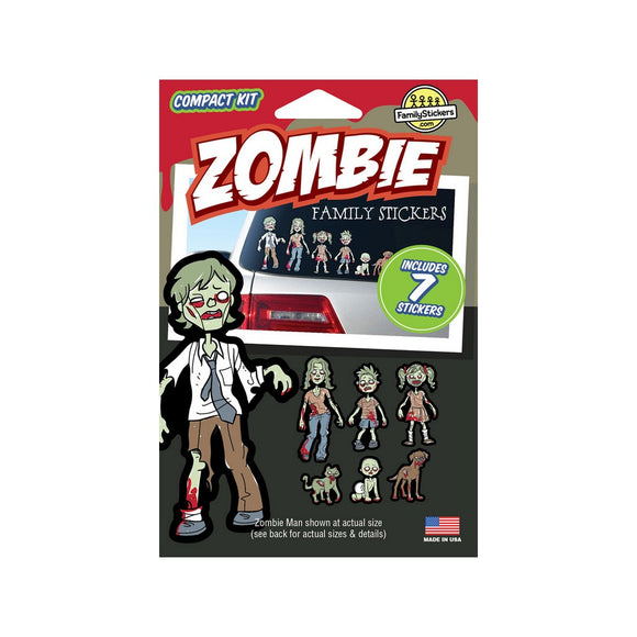 Zombie Family Stickers Compact Collection Kit