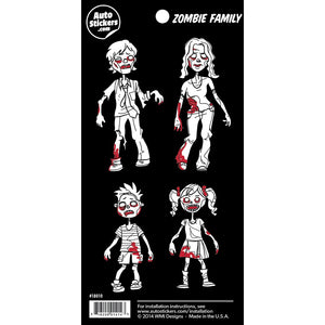 "Zombie Family Stickers - 4"" x 8"""