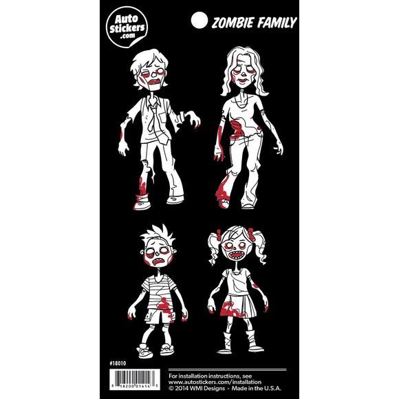 Zombie Family Stickers - 4