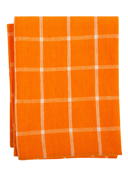 Indian Cotton Dish Cloth/Napkin (Orange/White) 67x50cm