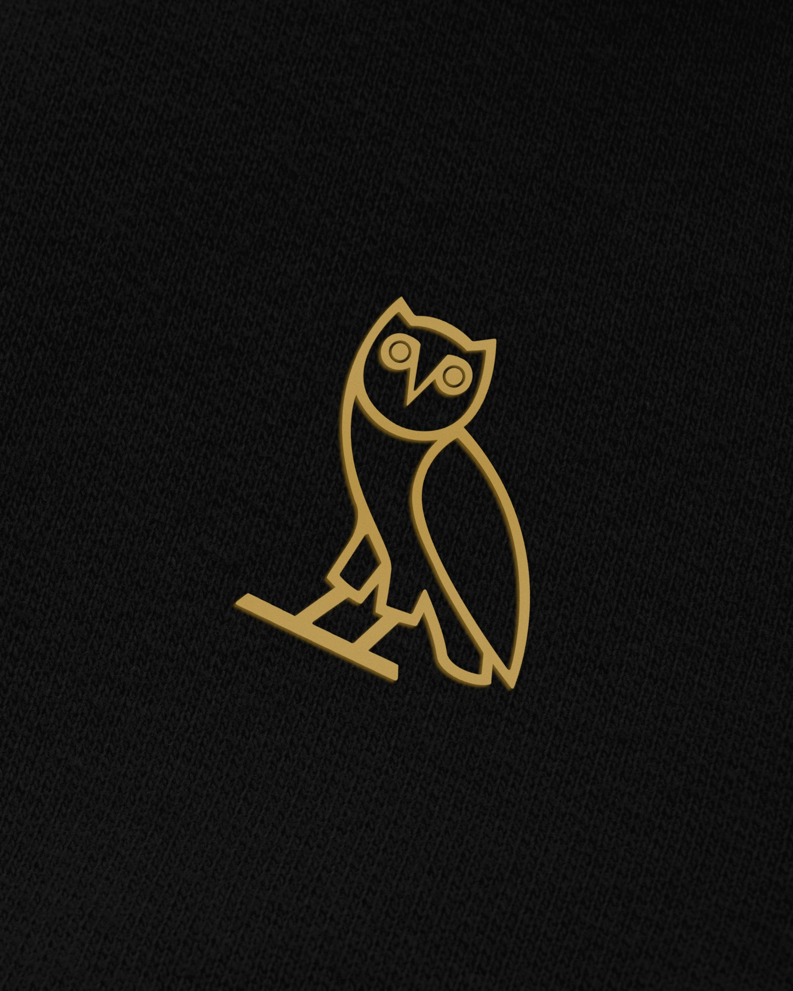 OVO FRENCH TERRY ZIP JACKET - BLACK IMAGE #3