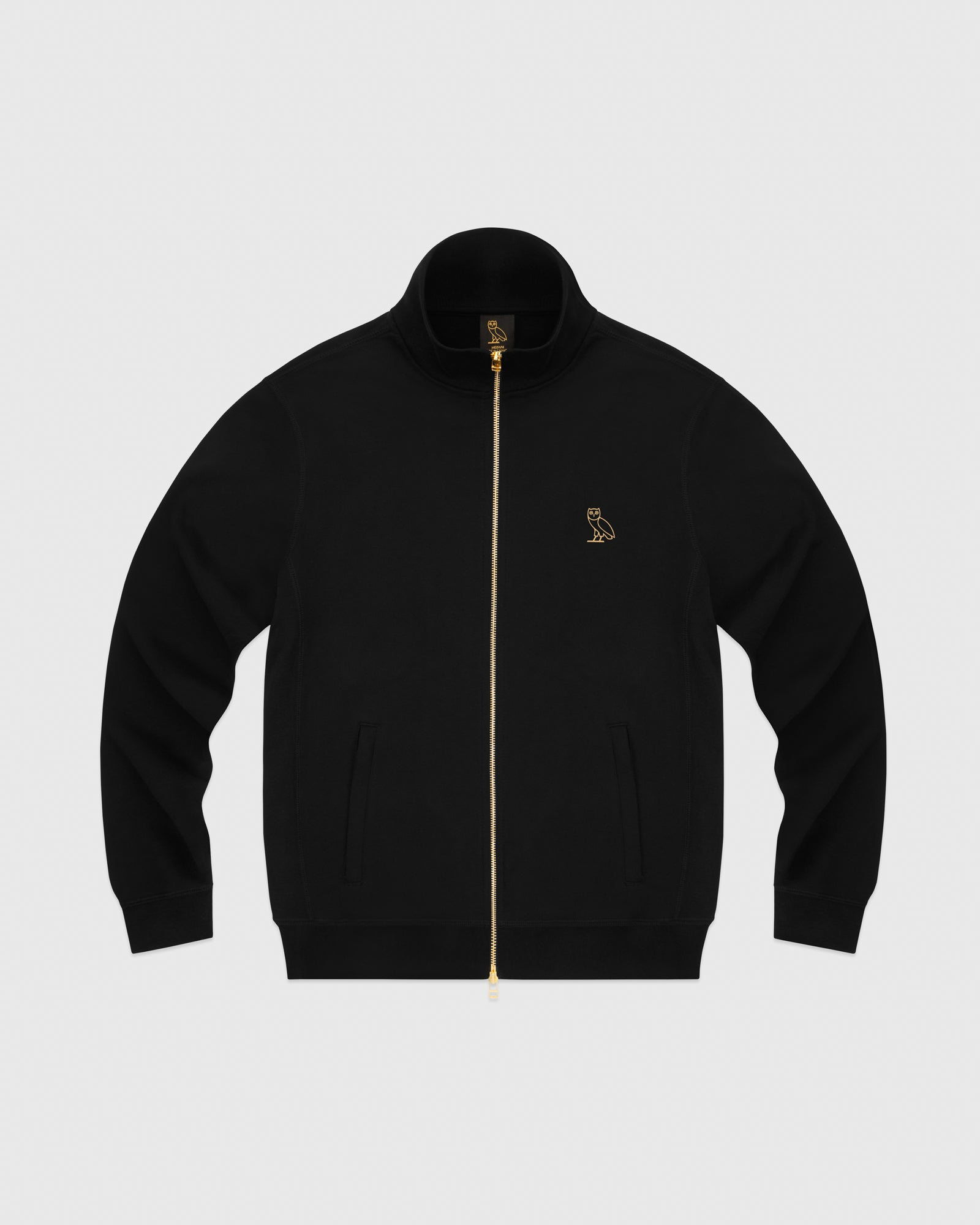 OVO FRENCH TERRY ZIP JACKET - BLACK IMAGE #1