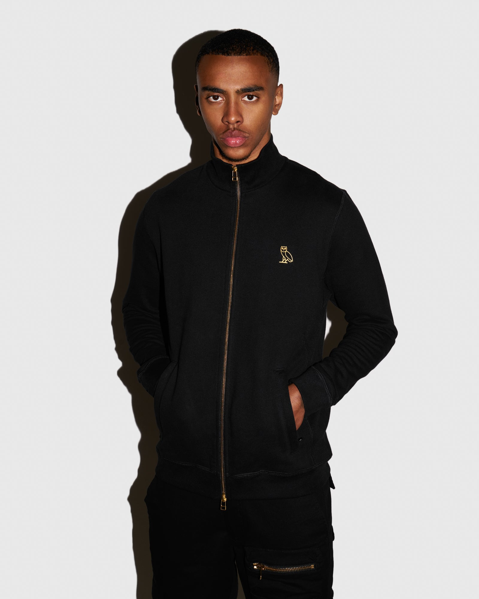 OVO FRENCH TERRY ZIP JACKET - BLACK IMAGE #2