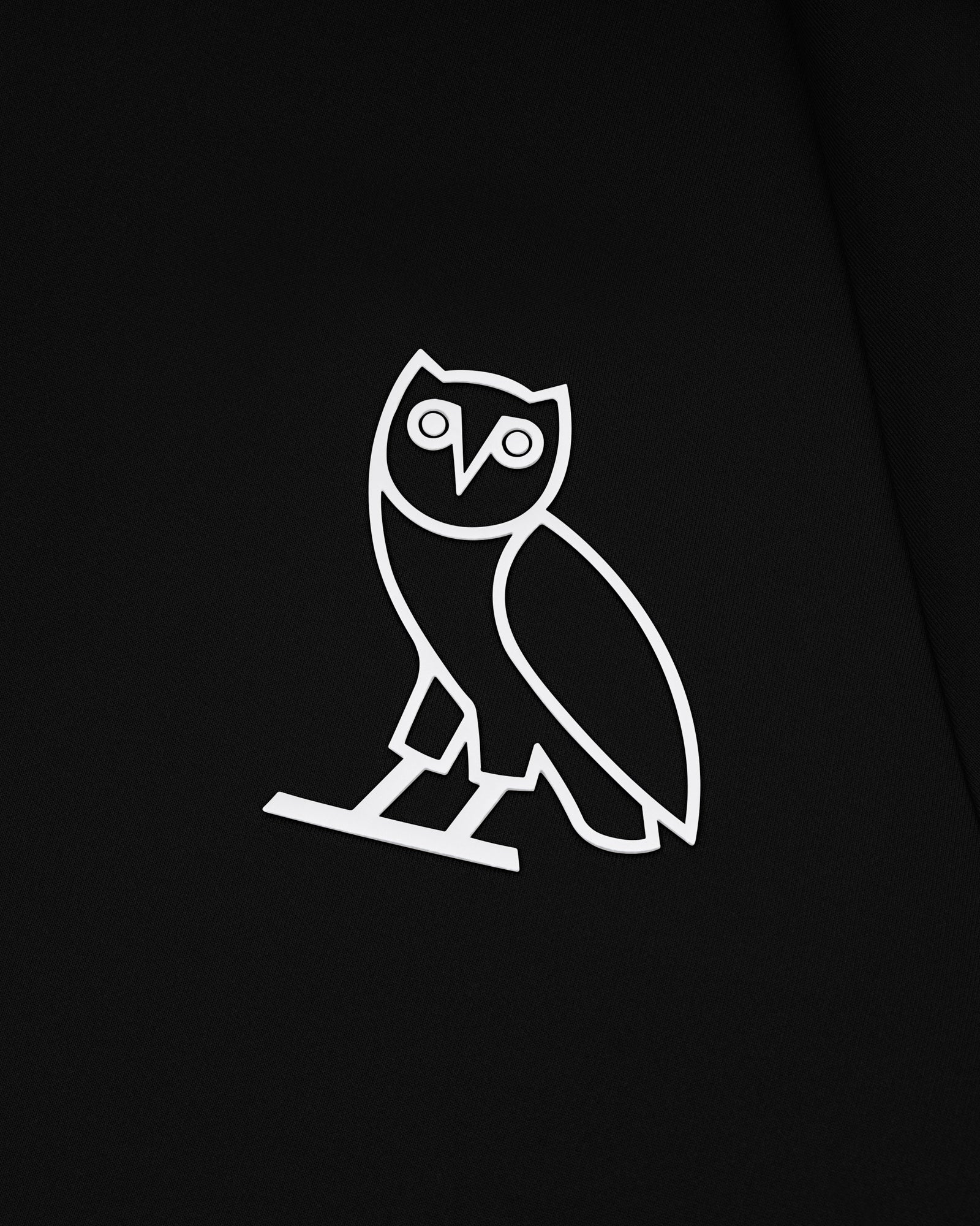 OVO DOUBLE KNIT ZIP HOODIE - BLACK IMAGE #3