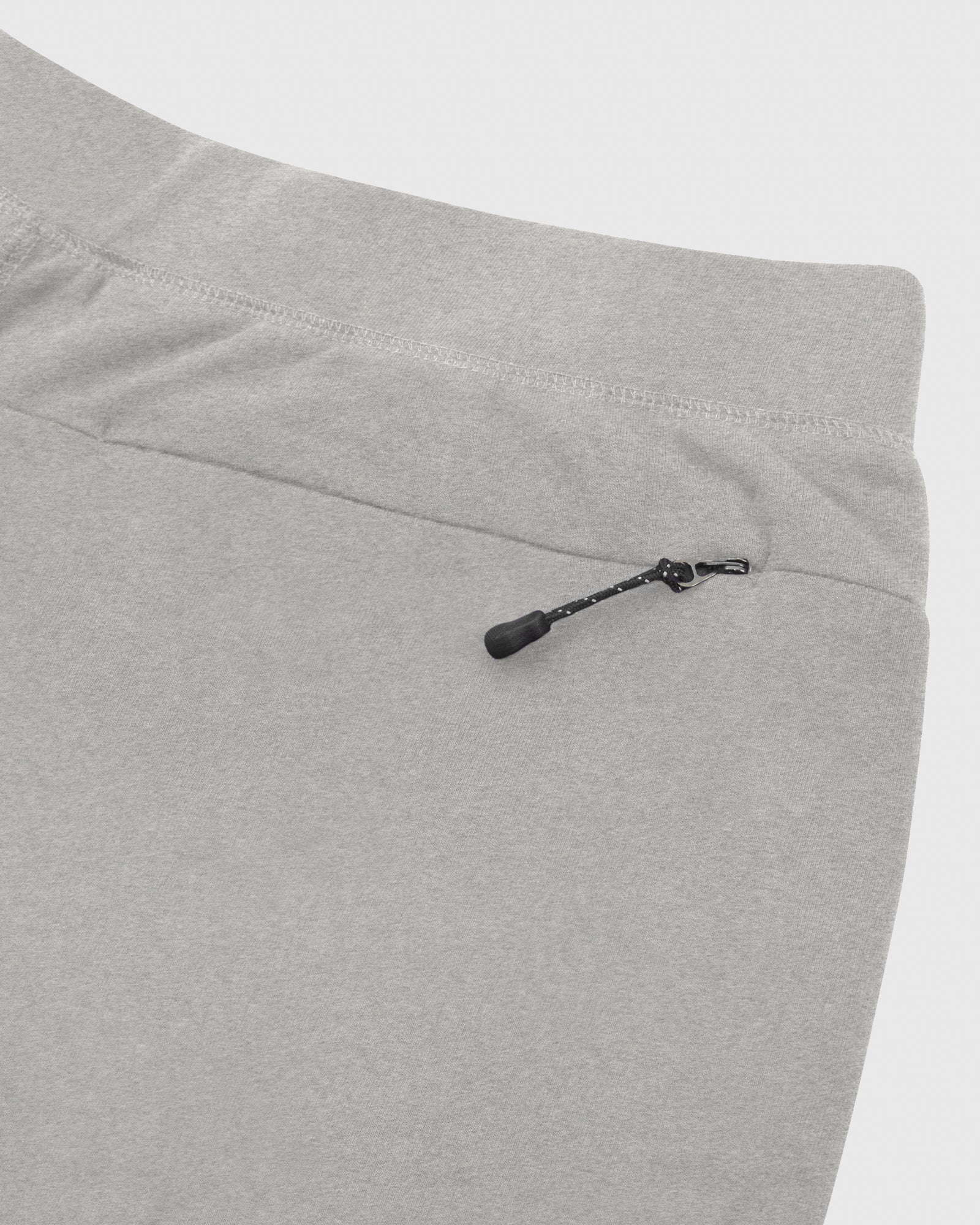 OVO LIGHTWEIGHT FRENCH TERRY SHORT - HEATHER GREY IMAGE #5