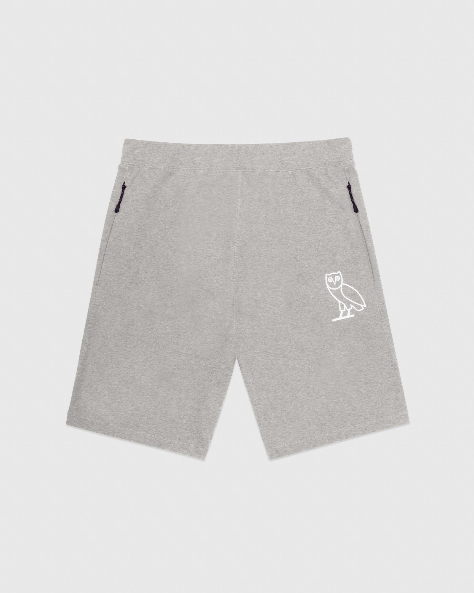OVO LIGHTWEIGHT FRENCH TERRY SHORT - HEATHER GREY IMAGE #1