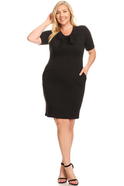 Bodycon Dress with Bow Detail in Plus Size Be the first to review this item