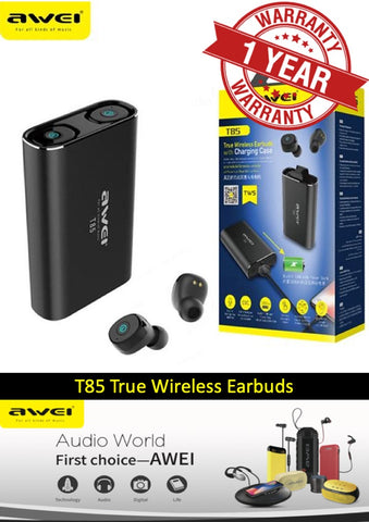 Awei T85 Twins True Wireless Earphones Bluetooth V5.0 In Ear Sport Earbuds IPX4
