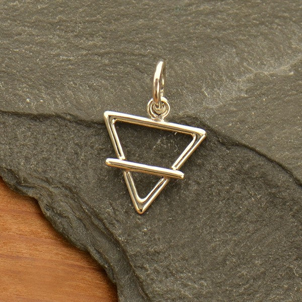 Sterling Silver Earth Element Symbol Charm - Poppies Beads n' More
