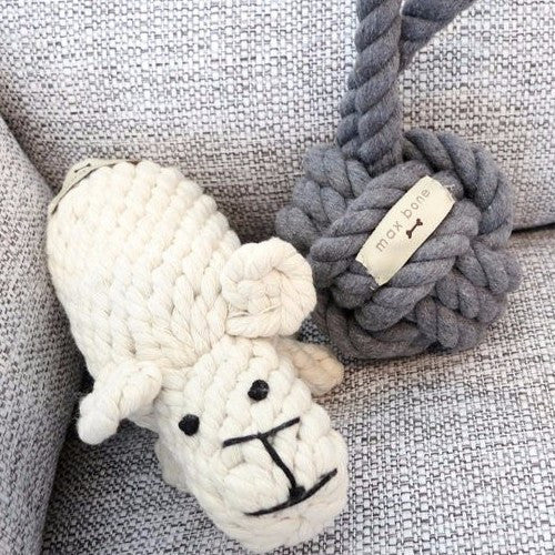 New! Dolly Sheep Rope Toy - Sir Dogwood