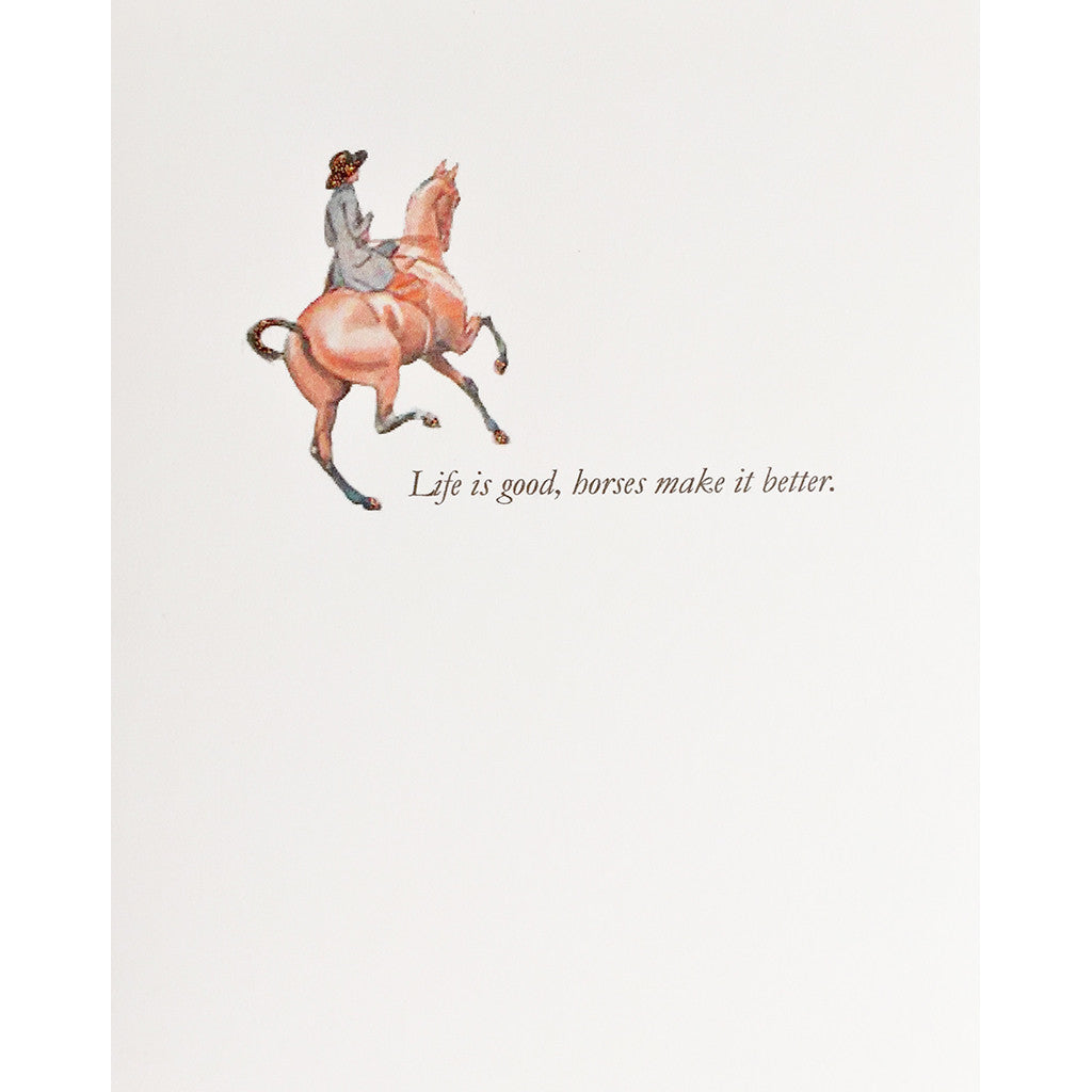 Greeting Card Horse Lover - Lumia Designs