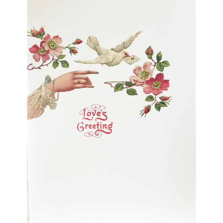 Greeting Card Hand Dove Love - Lumia Designs
