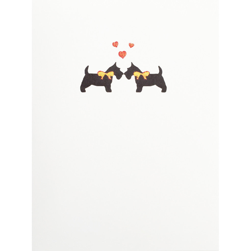 Greeting Card Scotties Love - Lumia Designs