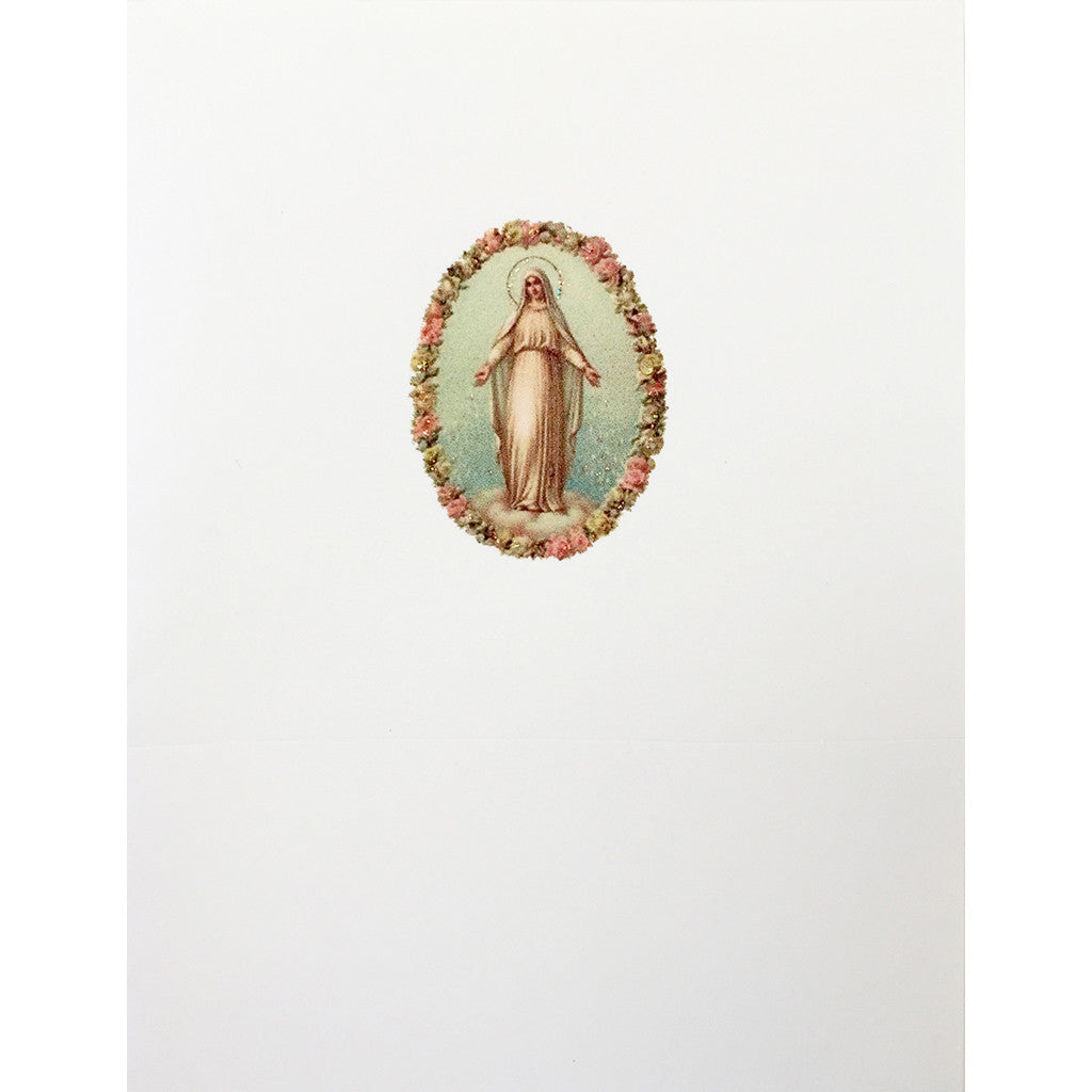 Virgin Mary Greeting Card Lumia Designs