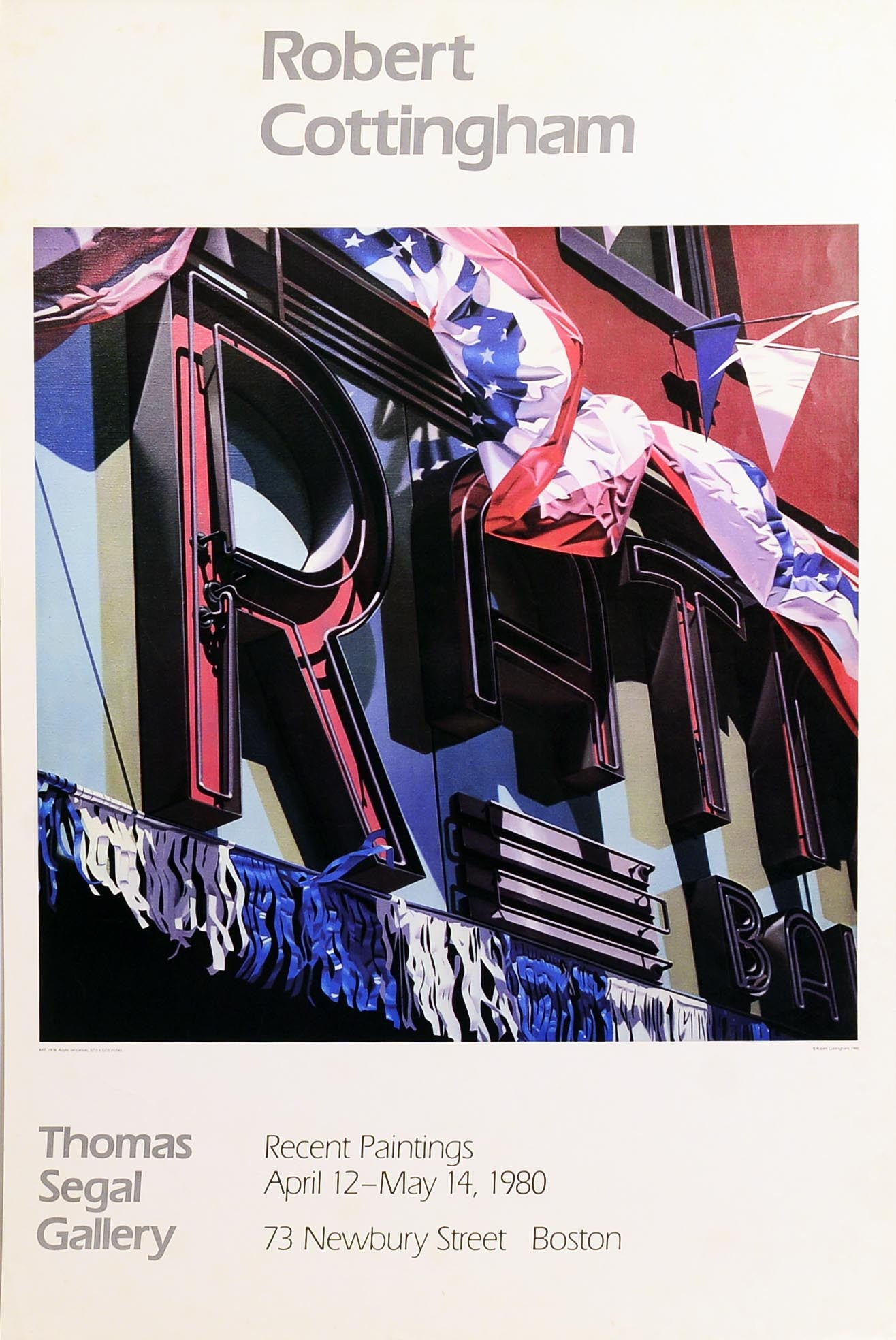 Recent Paintings, 1980 by ROBERT COTTINGHAM