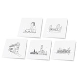 Hong Kong Theme Note Cards Variety Pack