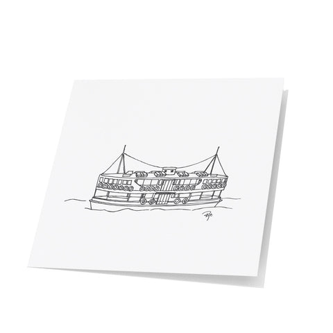 Star Ferry Note Cards