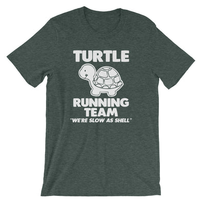 Turtle Running Team (We're Slow As Shell) T-Shirt (Unisex)