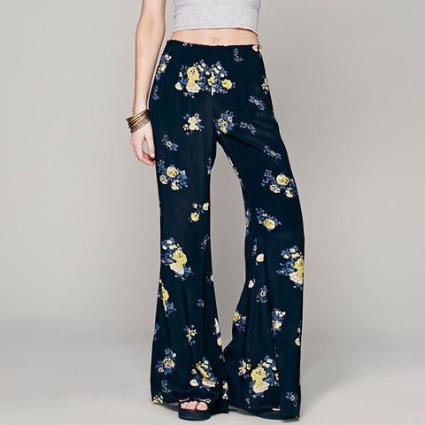 Free People Hippie Navy Floral Pant