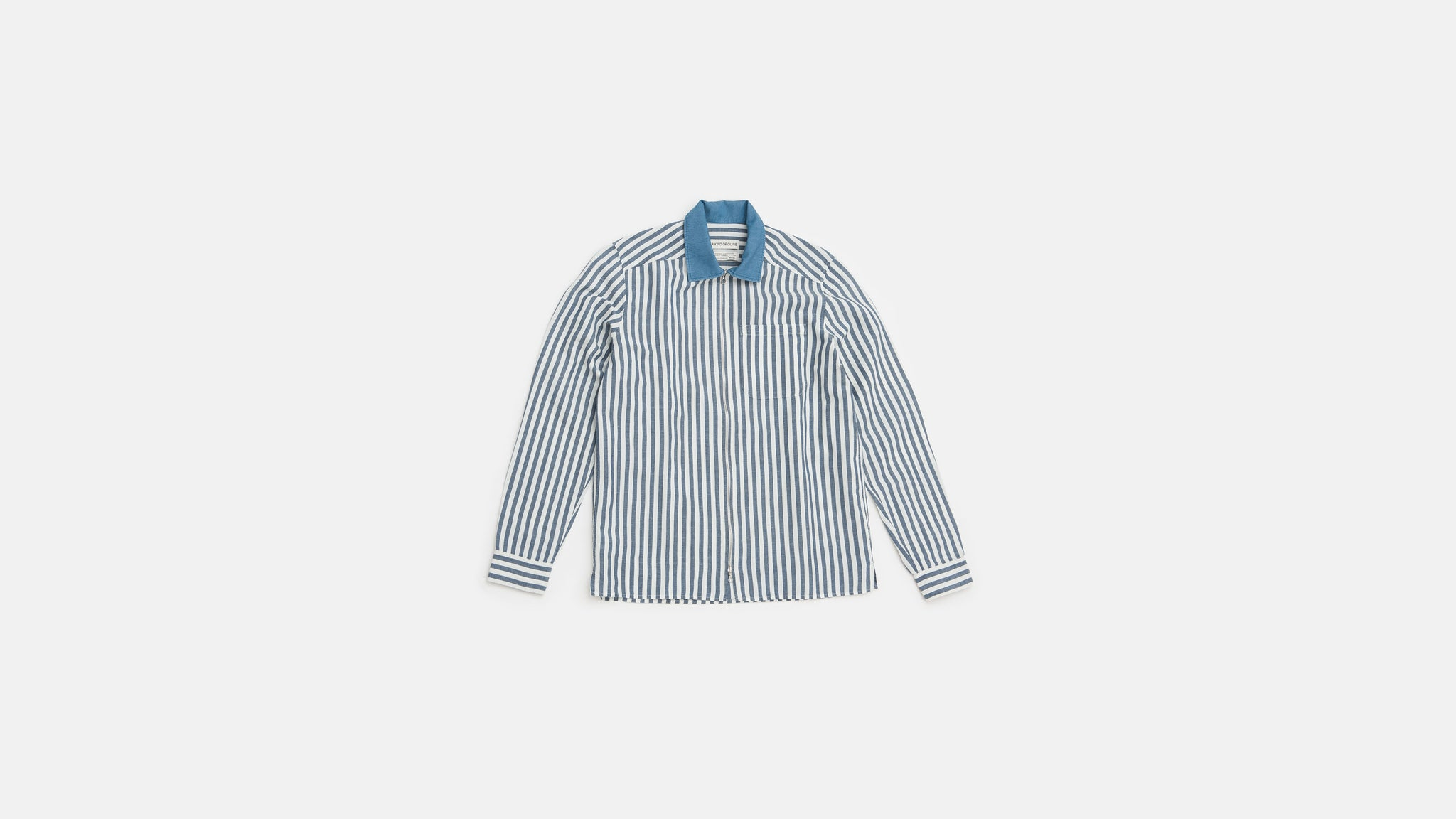 A Kind of Guise. Delon blue stripes shirt