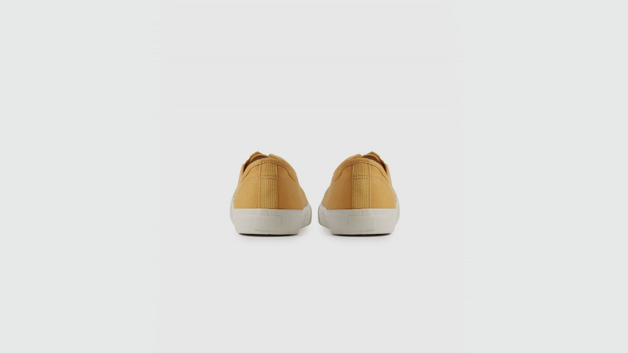 YMC. Canvas sneakers yellow