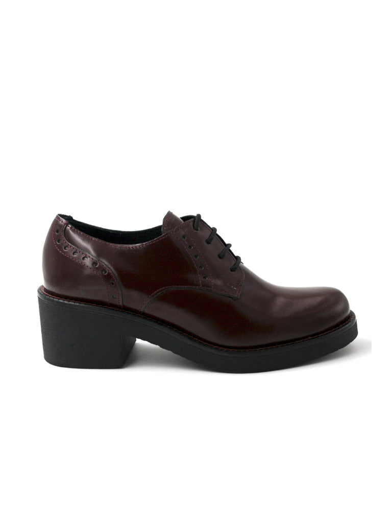 leather oxford-Heel Oxford Riviera Wine by Ethical & Sustainable Fashion Brand Mamahuhu