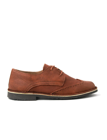 leather moccasin-Oxford Cognac Classic by Ethical & Sustainable Fashion Brand Mamahuhu