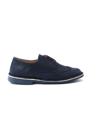leather moccasin-Oxford Dark Navy Classic by Ethical & Sustainable Fashion Brand Mamahuhu