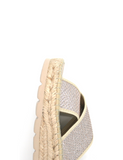 Espadrilles Women-Espadrilles Sandal Shimmer Champagne by Ethical & Sustainable Fashion Brand Mamahuhu