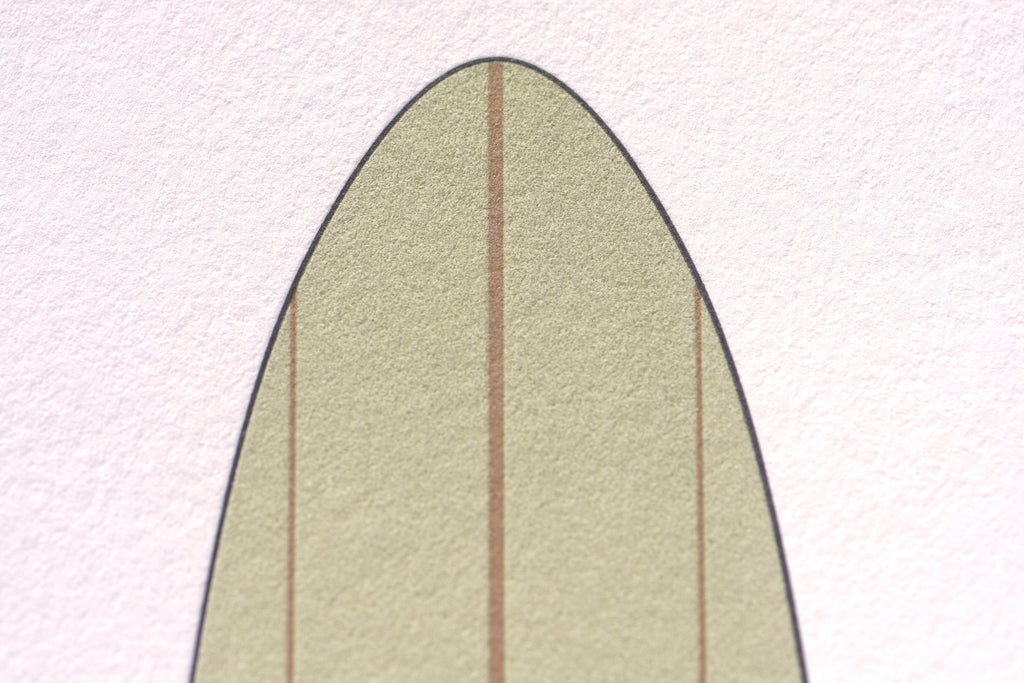 Custom Designed Letterpress Surfboard
