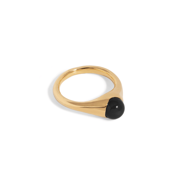 Bloom Ring with Onyx - By The Line Of Sun