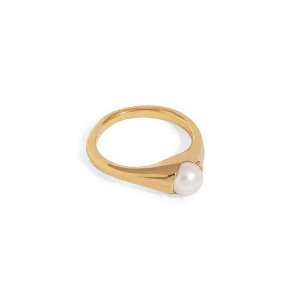 Bloom Ring with Pearl - By The Line Of Sun