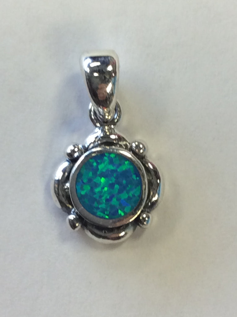 Opal Pendant Blue Diamond