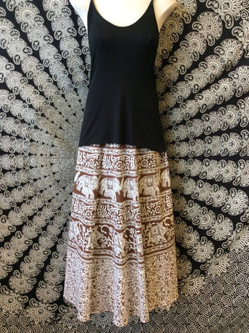Elephant Wrap Skirt