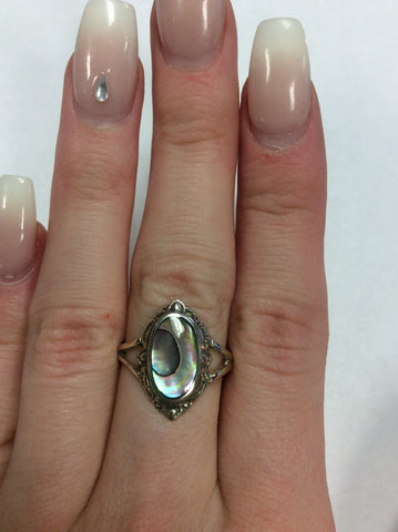 Sterling Abalone Ring
