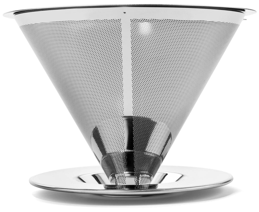 Bartelli Paperless Pour Over Coffee Dripper - Stainless Steel Reusable Coffee Filter and Single Cup Coffee maker
