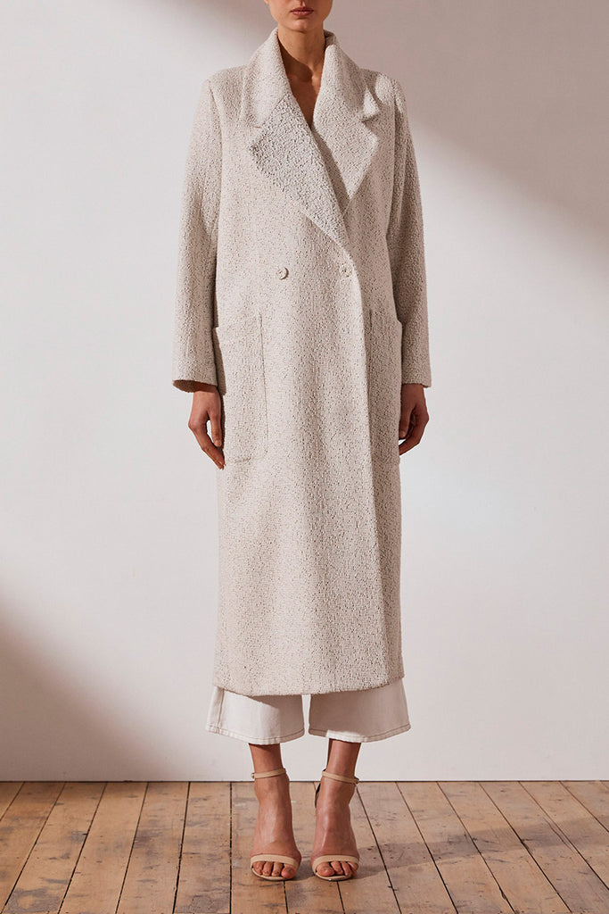 EDIE DOUBLE BREASTED COAT WITH BELT