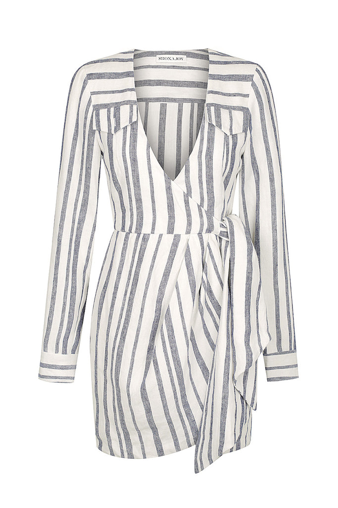 BAUTISTA LINEN SHIRT MINI DRESS